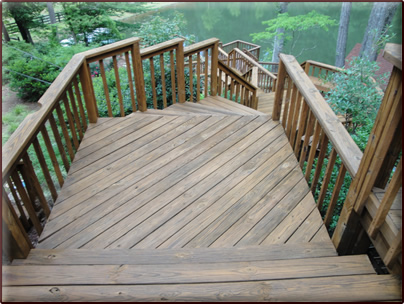 Solid Color Stained Deck
